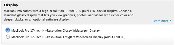 $90 more for a matte screen? GTFO.