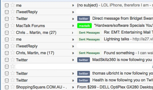 Sent Messages in Gmail Web Client